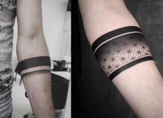 значение татуировок с черной полосой