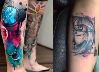 абстрактный стиль татуировок