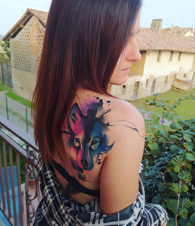 Татуировка с волком