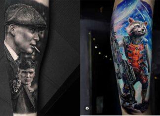 стильные татуировки в портретном стиле