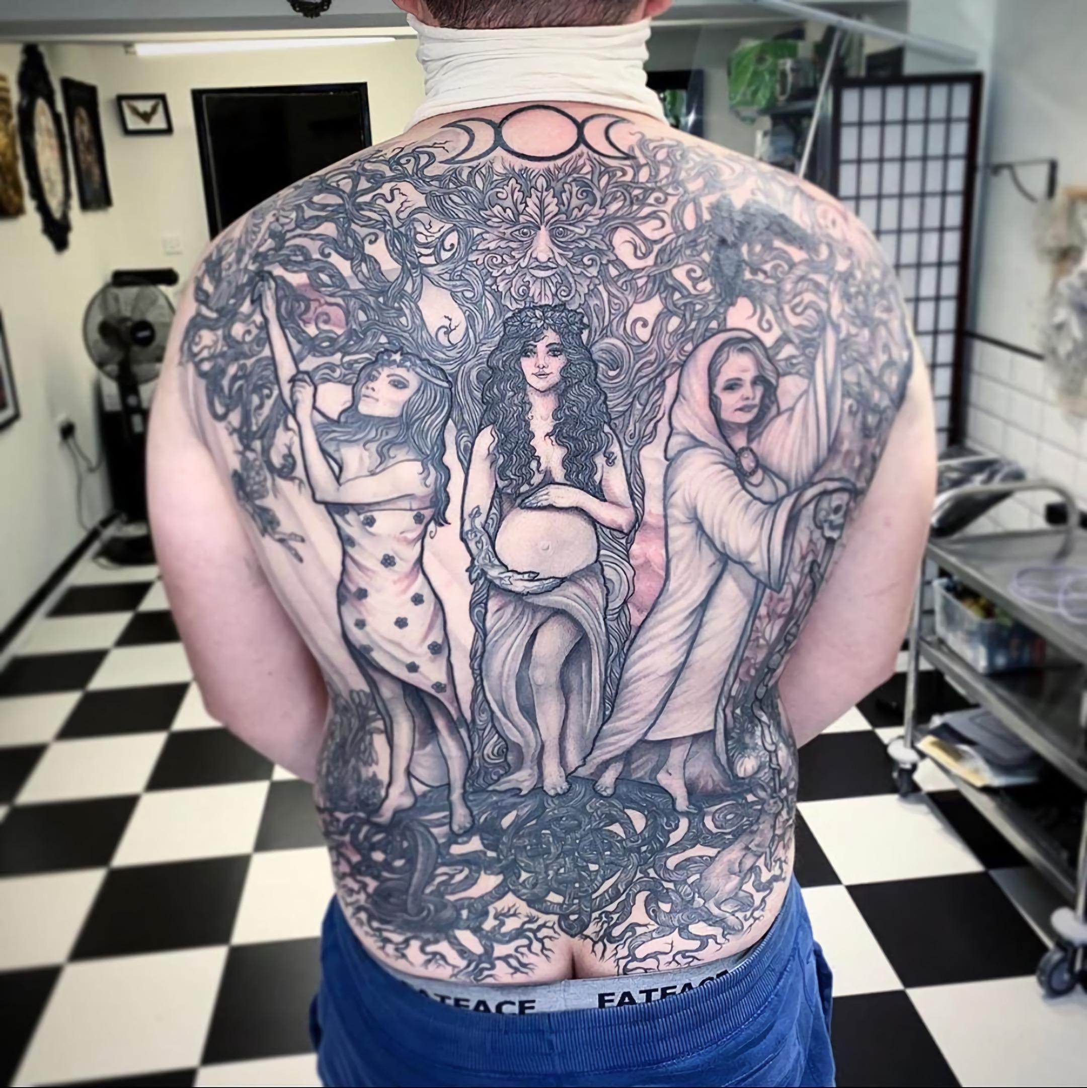 Тройная Богиня тату