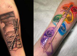 татуировки с мечем